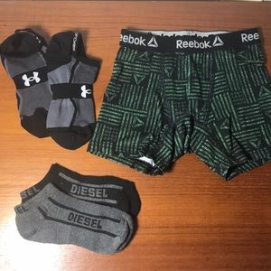Boys Sports underwear + Socks Diesel Reebok S 6/7
